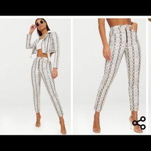 NWT snake skin skinny pants PLT